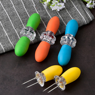 £9.72 • Buy 8Pcs Corn On The Cob Holders Stainless Steel BBQ Prongs Skewers Forks Party