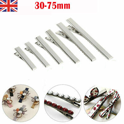 £3.59 • Buy Metal Crocodile Alligator Clips Hair Bows Pinch DIY Jewelry For Hair Clip Making