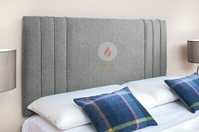 Headboard Turin Linen Fabric 20   - Small Double King Super King • 54.99£