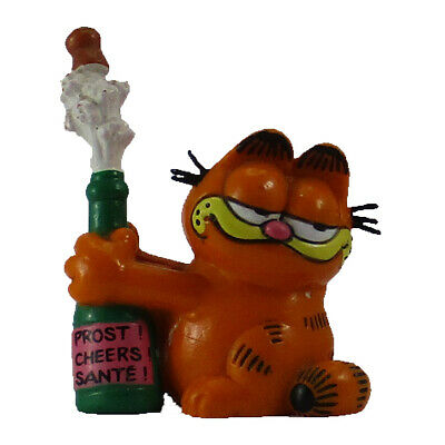 Garfield Opening Bottle Figure PVC Bully West Germany 1978 1981 Vintage Toy  • 10.88£