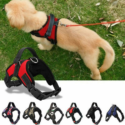 £5.49 • Buy Non-Pull Dog Harness Adjustable Pet Puppy Walking Strap Vest Soft Chest Belt