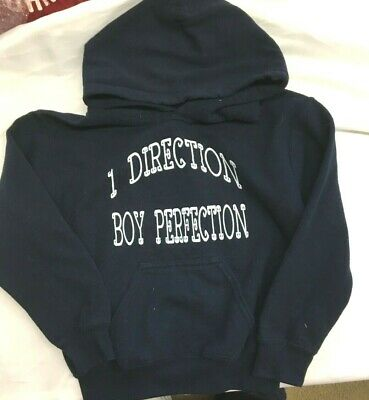 £7.31 • Buy One Direction Boy Perfection Sweatshirt Hoodie Navy White Pockets Youth Small 4