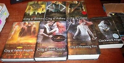 7 Shadowhunters Books Mortal Instruments Set 1-6 & 1 More Cassandra Clare Lot • 21.67£