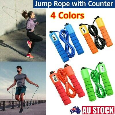 AU7.97 • Buy Skipping Rope With Counter Jump Boxing Gym Home Exercise Fitness Adult Kids