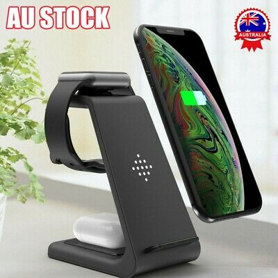 AU29.99 • Buy Qi Wireless Charger Fast Charging Dock Stand For Airpods Apple Watch IPhone Gift