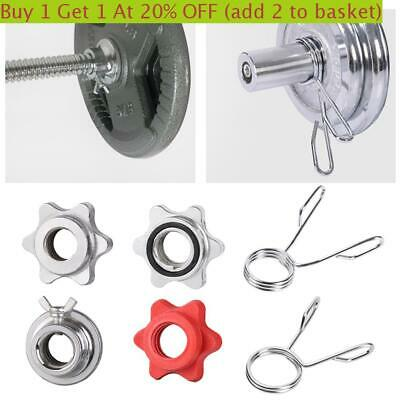 4x Weight Check Nut Barbell Bar Clips Spin Lock Screw Dumbbell Spinlock Collars