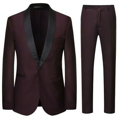 $ CDN93.42 • Buy Men's One Button Suit 3PCS Shawl Collar Tuxedo Wedding Formal Dinner Slim Fit L