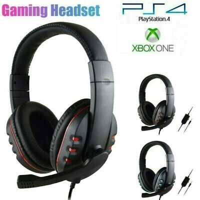 AU16.88 • Buy 3.5mm Gaming Headset MIC LED Headphones Surround For PC Mac Laptop PS4 Xbox One