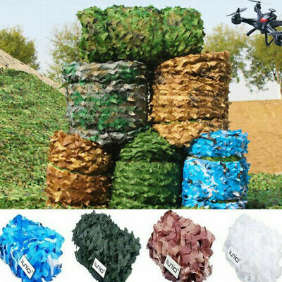 Camouflage Net Large Army Camo Netting Camping Shooting Hunting Hide Woodland UK • 9.98£