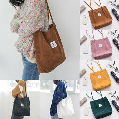 AU13.99 • Buy Women Canvas Corduroy Tote Bags Handbag Ladies Travel Messenger Shoulder Bag
