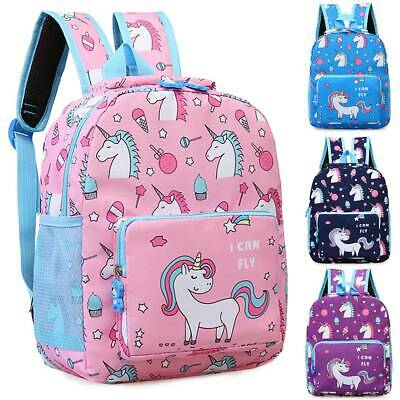 AU26.49 • Buy Unicorn Backpack Kid Girls School Shoulder Bag Rucksack Travel Container Cute AU