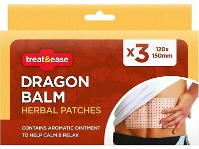 3 Pain Relief Dragon Balm Herbal Back Body Plaster Patches Muscles Deep Heat • 2.05£