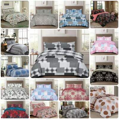 £17.65 • Buy 4 Piece Bedding Set Rich Cotton Duvet Quilt Cover With Fitted Sheet & Pillowcase