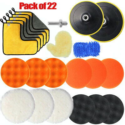 6'' Car Polisher Pads 180mm Wool 150mm Sponge Buffer Waxing Polishing Drill Kit • 12.99£