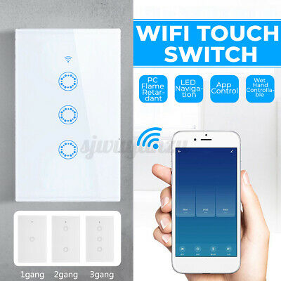 AU27.59 • Buy 1100W Wifi Smart Home LED Touch Light Wall Switch Panel For Alexa Google APP