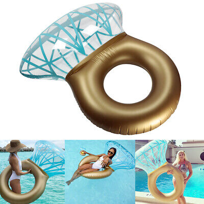Giant Inflatable Diamond Engagement Ring Pool Float Summer Beach Swimming Toy UK • 7.99£