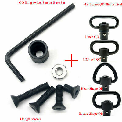 $ CDN11.48 • Buy QD Sling Swivel Screws 1/1.25/1.5'' Base Set_Black Color Can DIY Different Style