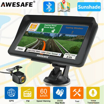 AU90.99 • Buy 7 AWESAFE GPS Navigator Car Truck Bluetooth Navigation  Sunshade Reverse Camera