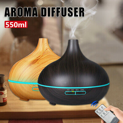AU21.09 • Buy LED Aroma Aromatherapy Diffuser Essential Oil Ultrasonic Air Humidifier 550ml AU