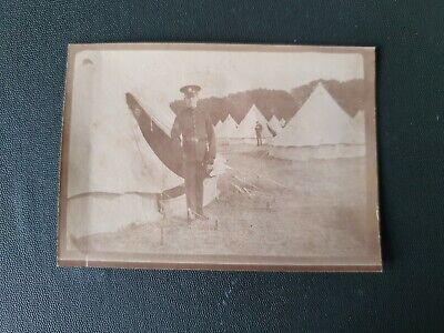 1910 PRE WW1 SOLDIERS ON CAMP, RAMSEY, ISLE OF MAN. ORIGINAL PHOTO 9x6cm App #2 • 2.99£