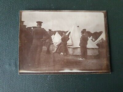 1910 PRE WW1 SOLDIERS ON CAMP, RAMSEY, ISLE OF MAN. ORIGINAL PHOTO 9x6cm App #3 • 2.99£