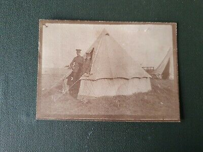1910 PRE WW1 SOLDIERS ON CAMP, RAMSEY, ISLE OF MAN. ORIGINAL PHOTO 9x6cm App #4 • 2.99£