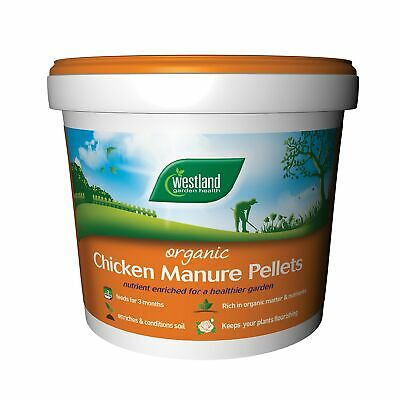 Chicken Manure Pellets Multi-purpose 2 Compost 10l 50l Plant Feed Before Sowing • 24.83£