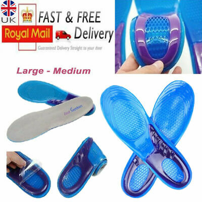£3.49 • Buy Orthotic Insoles For Arch Support Plantar Fascitis Flat Feet Back & Heel Pain Uk