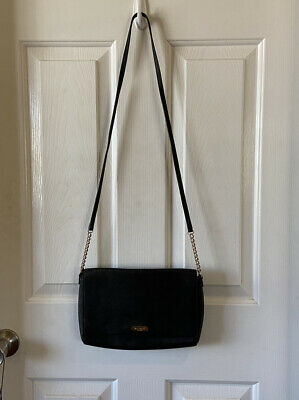 $ CDN44.64 • Buy Kate Spade Black Leather Bag Small Chain Cross Body Purse