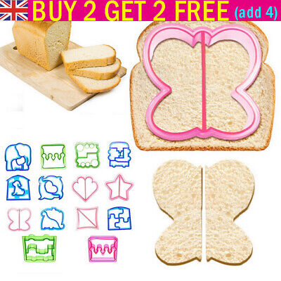 Cute Shape Plastic Kids DIY Lunch Sandwich Toast Mold Cake Bread Cutter Mould UK • 3.79£