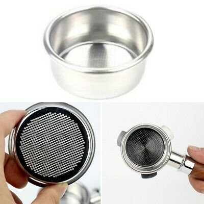 £9.35 • Buy 2-Cup Stainless Steel Filter Basket For Breville 54mm Coffee Portafilter UK