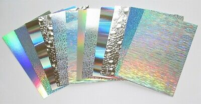 Kanban 24 X Silver Holographic Mirri Mats Craft Mirror Card  • 2.49£