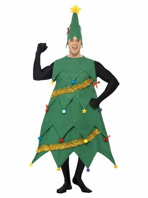 Deluxe Christmas Tree Costume Mens Ladies Xmas Fancy Dress Novelty Outfit • 33.99£