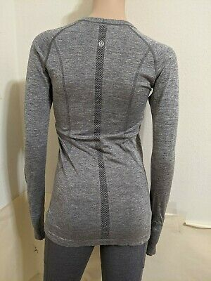 $ CDN63.78 • Buy Lululemon Run Swift Tech, Long Sleeve Shirt Size 6 SMALL  Color Gray