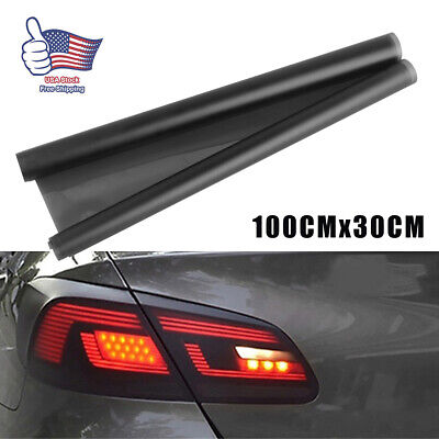 $8.22 • Buy Light Black Car Rear Lights Tail Light Film Sticker Trims Wrap Accessories New