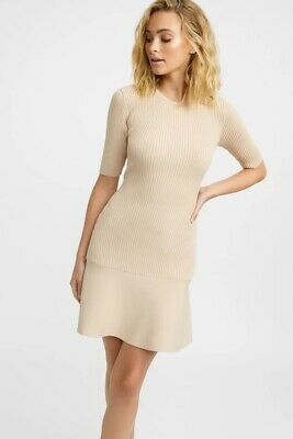 AU110 • Buy Kookai Nia Crew Dress - Beige Size 0 (34/36) (Pre-Owned In Excellent Condition)