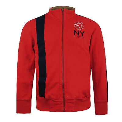 Nike New York American Zip Up Track Top Red Mens Jumper 143504 656 • 14.99£