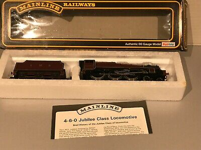 £60 • Buy Mainline 37061 Jubilee Class 5XP Locomotive In LMS Crimson Lake. Tested. No 5690