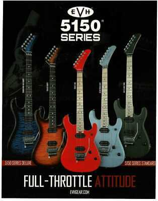 AU12.65 • Buy 2019 EVH 5150 Series Electric Guitar Burst Blue Red Gray Magazine Ad