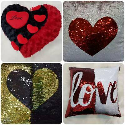 £9.95 • Buy I Love You Red Heart Cushion Pillow, Love Red Filled Cushion Heart Cushion