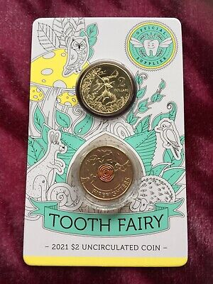 AU29.99 • Buy 2021 Tooth Fairy $2 Dollar Coin Card & 2020 Fire Fighter Single UNC Coin