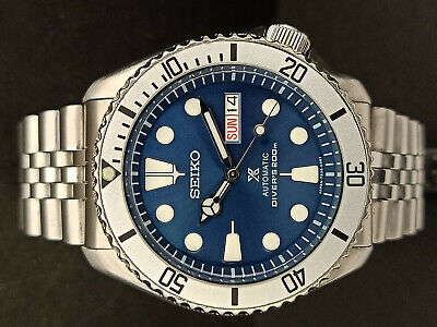 $ CDN180.33 • Buy Seiko Diver 7s26-0020 Skx007 Blue Prospex Mod Automatic Watch 700197