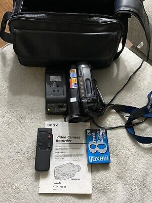$ CDN164.59 • Buy Sony Handycam Video8 CCD-TR66 8mm Camcorder W/Adapter Tape, Bag Remote, & Manual