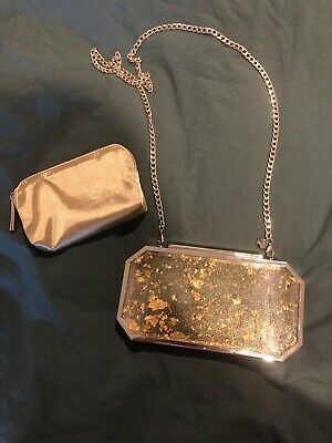 AU39 • Buy MIMCO Gold Fleck Clutch With Insert And Removable Chain Strap