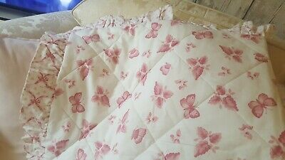 £14.99 • Buy Frilled Quilted Cot Child's  Bed Cover Butterflys Ribbons&bows