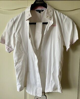 Just Togs White Shirt Showing/Dressage/Show Jumping Size XS 8 • 4.99£
