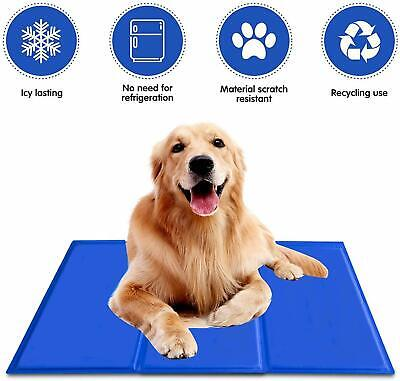 AU21.99 • Buy Pet Cooling Mats For Dogs Cat Puppy Cool Gel Mat Non-Toxic Bed Summer Pad 4 Size