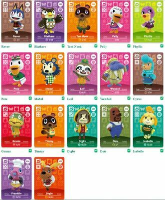 AU6.90 • Buy GENUINE Animal Crossing Series 3 Amiibo Cards (SP) SPECIAL CHARACTERS #201-217