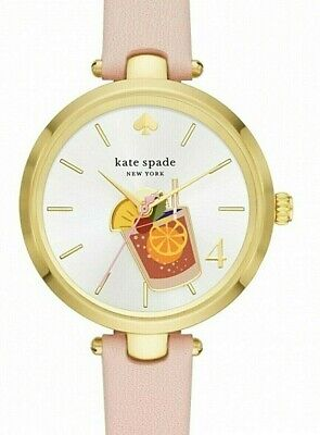 $ CDN81.66 • Buy Kate Spade Holland, Drink Charm Watch With Blush Leather Band, Nib, Ksw1629
