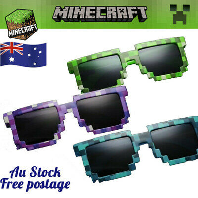 AU14.50 • Buy Minecraft Glasses Sunglasses Pixel Gift Minecraft Sun Glasses Party Cosplay Toy